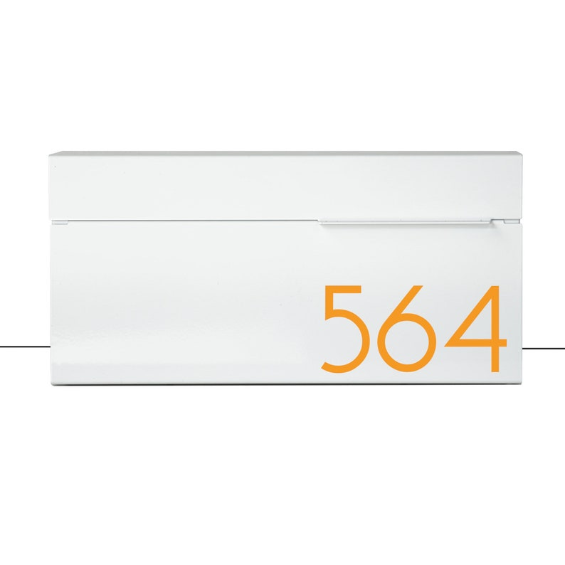 White Modern and contemporary mailbox LOUIS W contemporary Wall Mounted mailbox white #147W Modern Mailbox