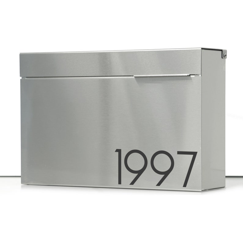 0bea83ce2a37 XL Modern mailbox ALEXYS S stainless steel large Wall