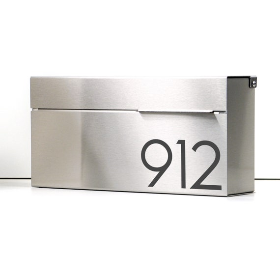 Modern And Contemporary Mailbox Louis S Stainless Steel Etsy