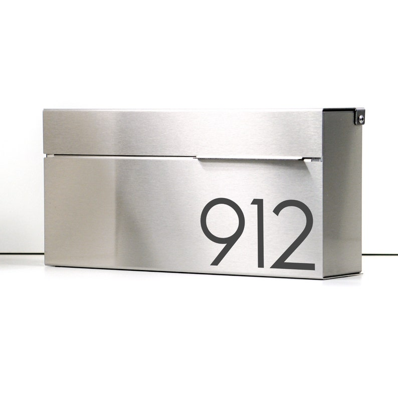 Modern and contemporary mailbox LOUIS S stainless steel image 0