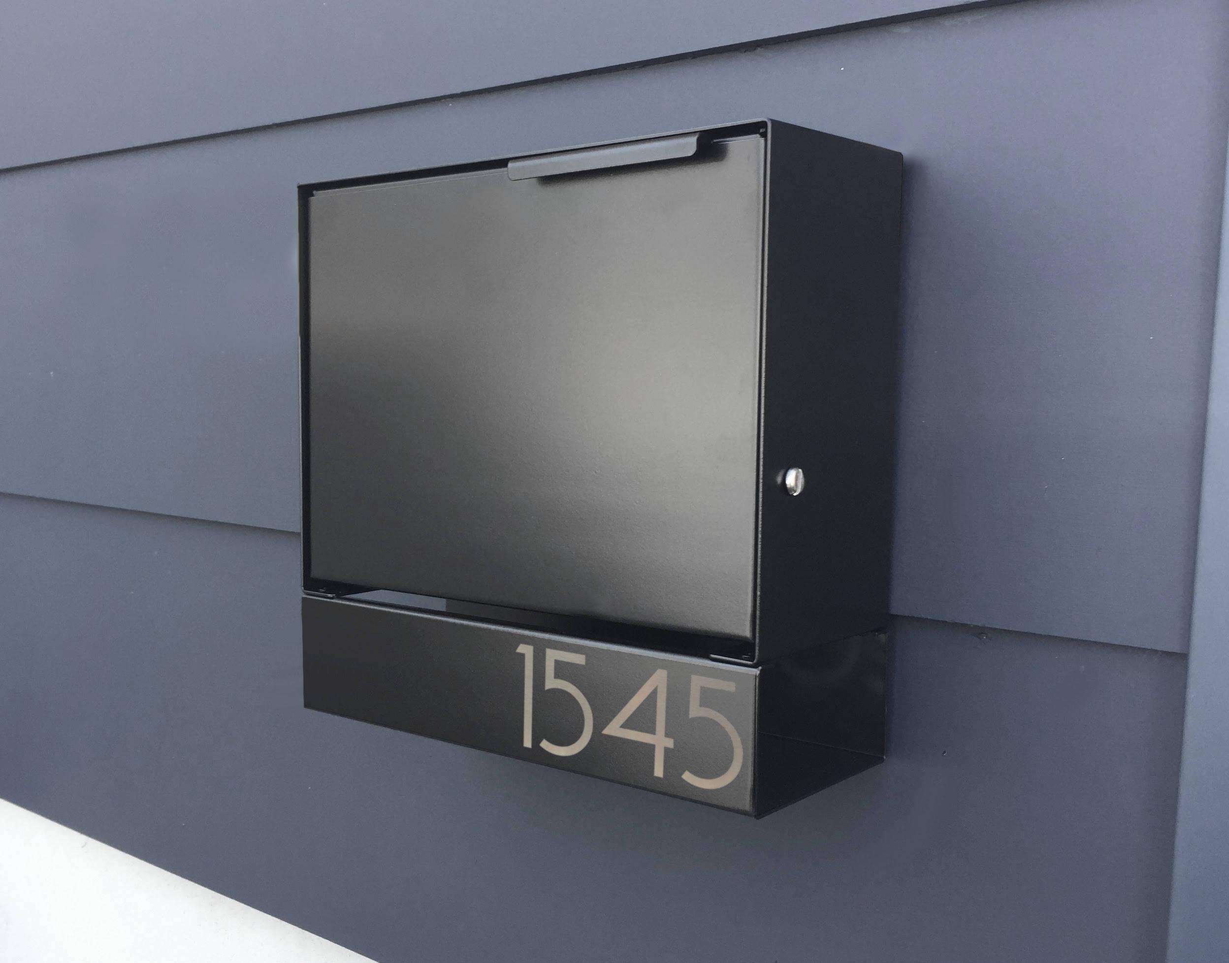 serrure de bo te aux lettres noir moderne ely b design etsy. Black Bedroom Furniture Sets. Home Design Ideas