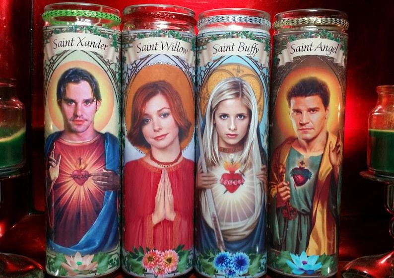 Sarah Michelle Gellar Celebrity Saint prayer Candles Buffy the Vampire Slayer Buffy