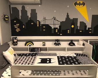 batman room decor etsy rh etsy com batman kids room ideas batman kids room ideas