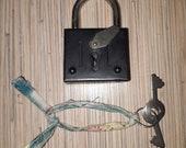 Vintage Soviet padlock with original key
