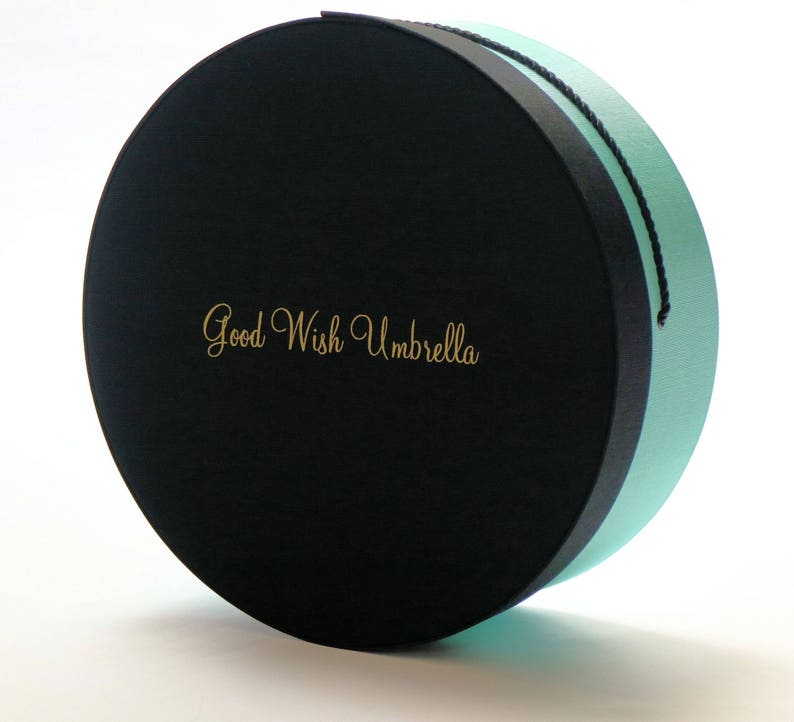 Turquoise Black Lid by Good Wish Umbrella\u00ae Bouquet Carrier