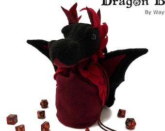 Dragon Bagons: CR10 dragon dicebags - Red/Black
