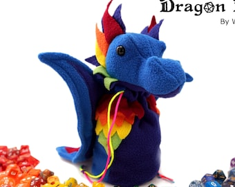 Dragon Bagons: CR10 dragon dicebags - Rainbow