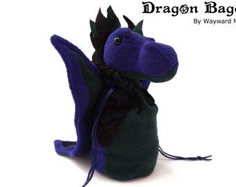 Dragon Bagons: CR10 dragon dicebags - Purple/Green