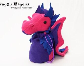 Bi Pride Dragon Bagon + Bi Pride dice set