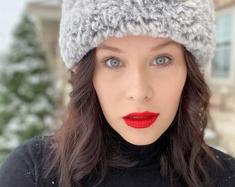 Czarina Crown Faux Fur Crochet Headband Pattern
