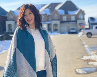Straight to the Point Oversized Asymmetrical Shawl Crochet Pattern