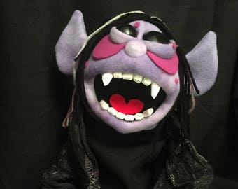 Vampire Puppet, made by Son of Jen Puppets, OOAK