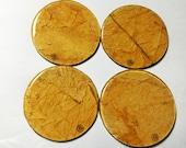 Flue-Cured Tobacco Leaf Coasters (Round)