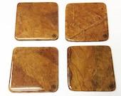 Burley Tobacco Leaf Coasters (Square)