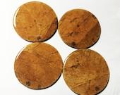 Burley Tobacco Leaf Coasters (Round)