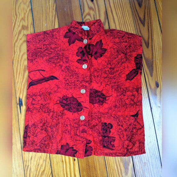 Amazing Vintage Toddler sized Red and Black Tea Ti