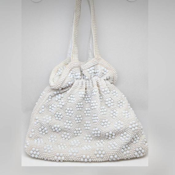 Clearance *** Vintage White Candy Dot Handbag