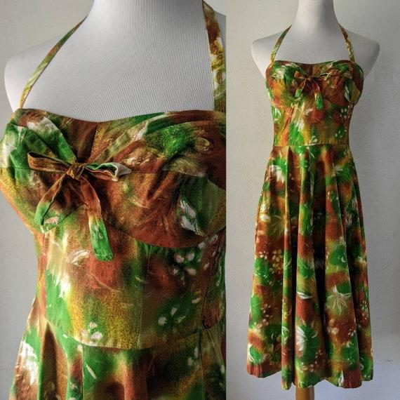 SALE Amazing Kona Kai Vintage Hawaiian Tiki Dress