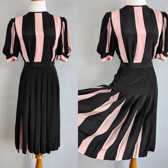 Incredible David Hayes Designer Vintage Silk Pink