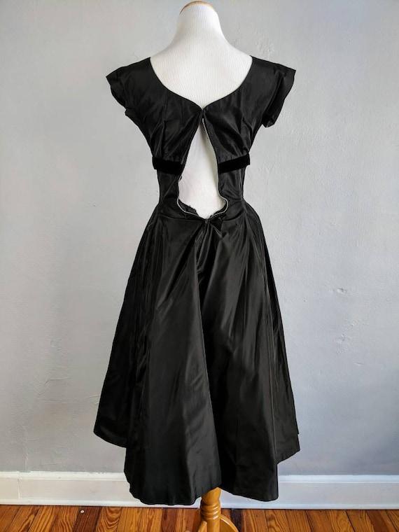 Gorgeous Suzy Perette Black Taffeta and Velvet Go… - image 7