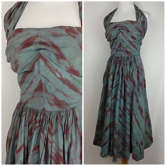 Amazing 40s early 50s Vintage For and Flare Halter
