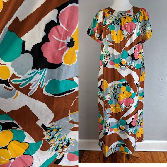 Beautiful Vintage Sears Hawaiian Muumuu
