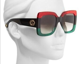 c9db636ca8f Gucci Square-Frame Acetate Sunglasses