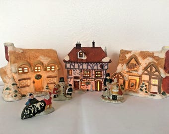 lighted village christmas around the world pub dickens series dept 56 vintage christmas lighted christmas village