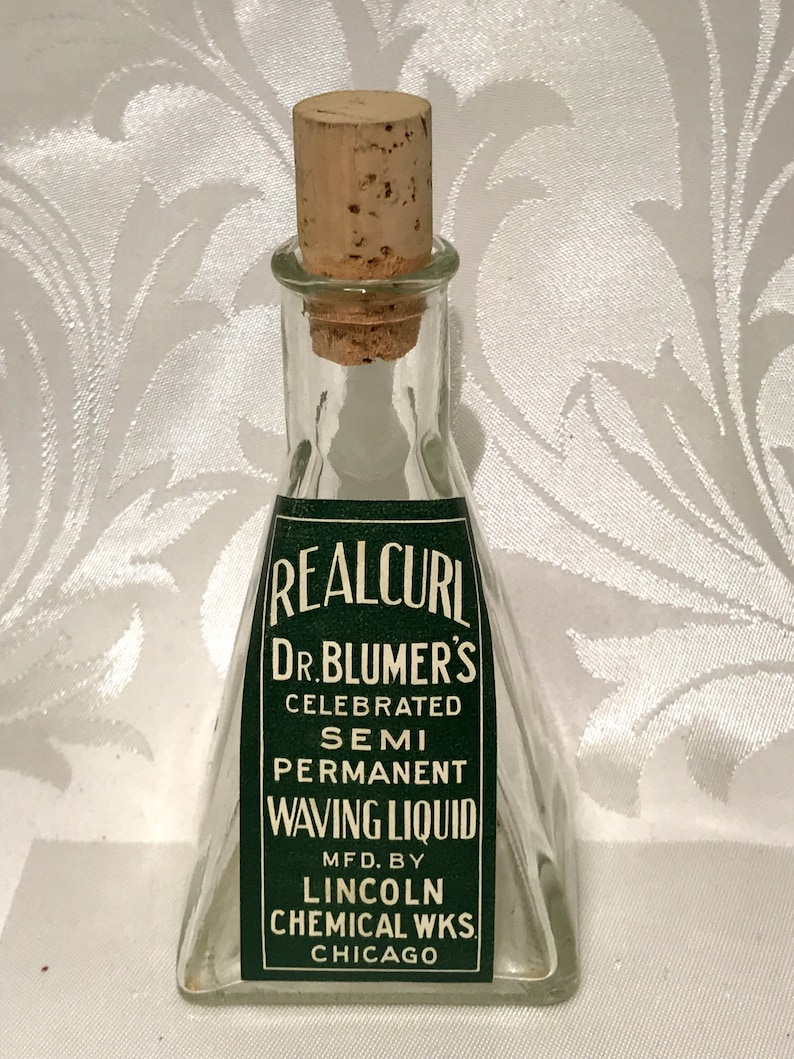Waving Lotion Bottle Antique Style Apothecary Bottle Etsy