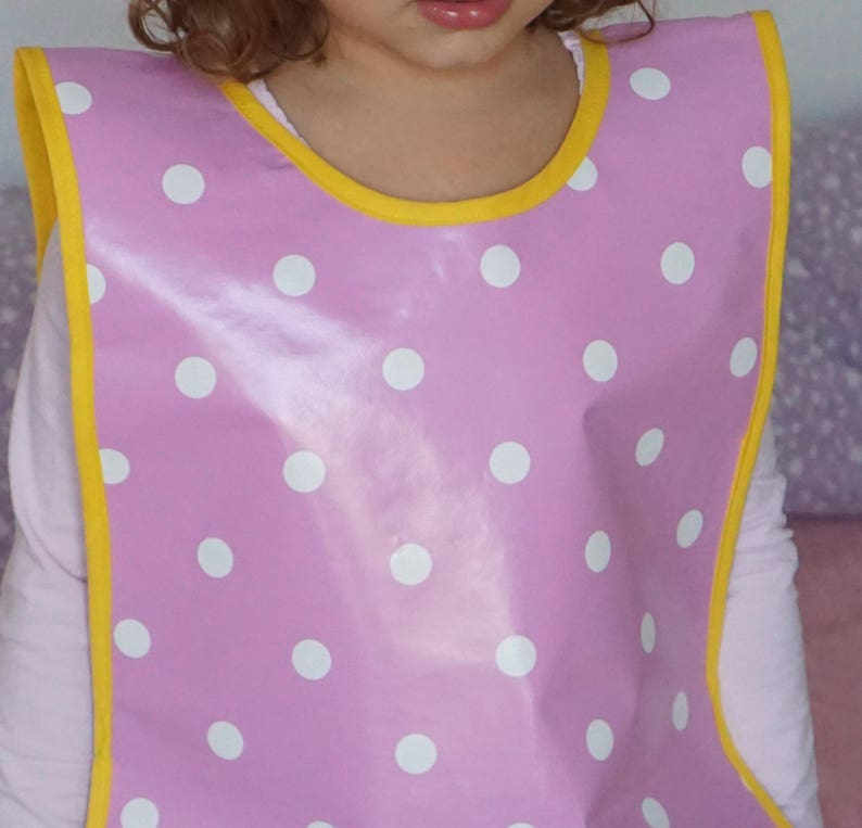 Ideal kids accessory for messy play Oilcloth apron for toddler Handmade waterproof apron for toddlers messy play Back to school gift idea