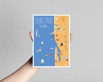 Postcard Saint Pair on Sea