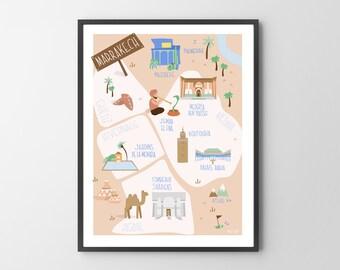 Poster Marrakech - Morocco