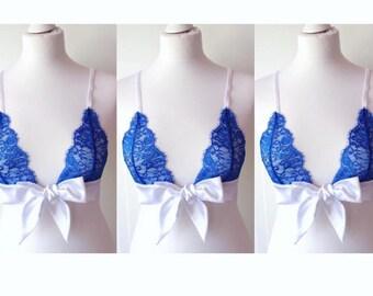 Desire Silk, Lace Bralette & Brazilian Knicker Set
