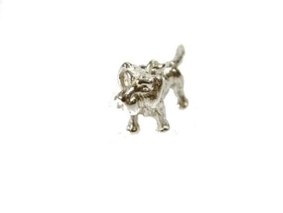 Anhänger Dackel Teckel rauhhaarig -925er Sterling Silber-- Inkl Kette