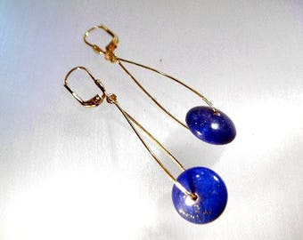 Lapislazius earrings 333 gold Lapis earrings