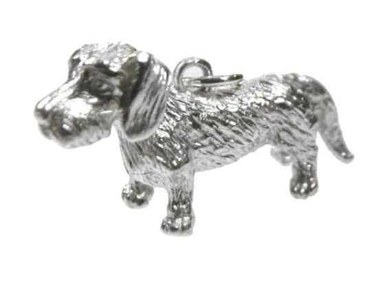 rauhhaarig -925er Sterling Silber-- Inkl Teckel Anhänger Dackel Kette