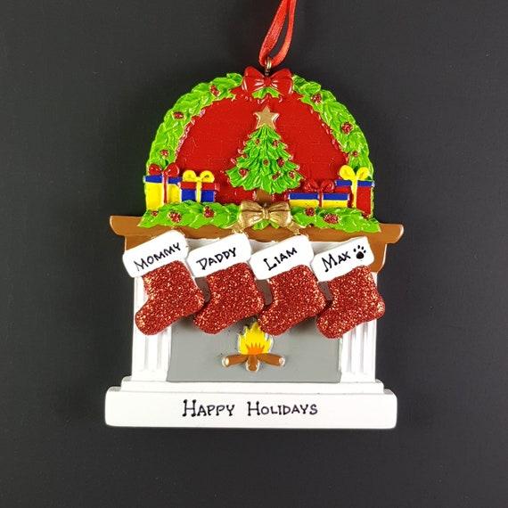 Fireplace Stockings Family Handmade Personalized Christmas Etsy