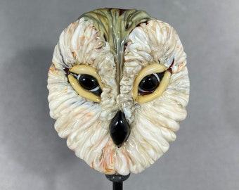 NEW! Owl Pendant Owl Jewelry Glass Owl pendant Owl Necklace Glass Bead Owl Glass Owl Pendant