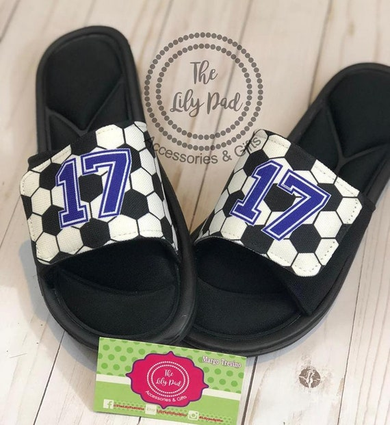 Custom Sport Sandals Slides Personalized Sport Sandals Team Sandal Baseball Softball Football Soccer