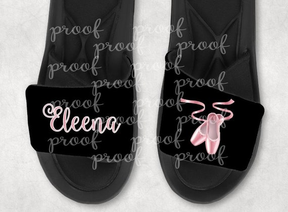 Custom Ballet Sport Sandals Slides Personalized Sport Sandals Team Sandal Baseball Softball Football Soccer