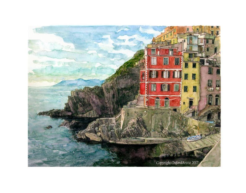 A view of the harbour at Riomaggiore on the Cinque Terre image 0