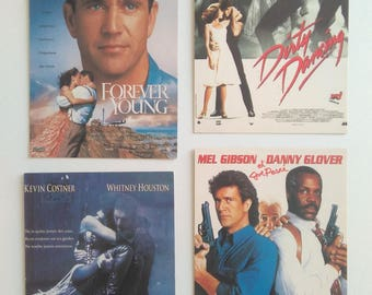 Vintage Postcards 80's and 90's US Movies Bodyguard Dirty Dancing Forever Young The Weapon Fatale Kevin Costner Mel Gipson collection