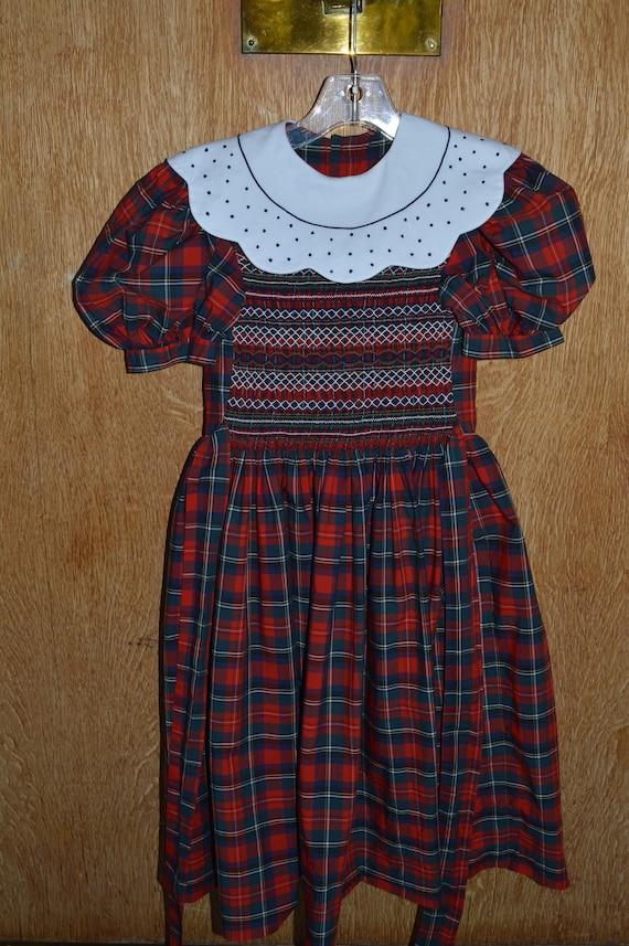Smocked Plaid Dress