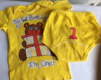 Vintage one year baby suit