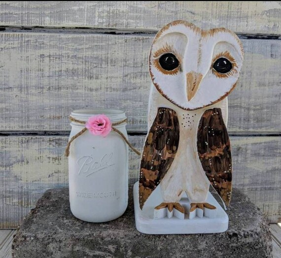 Wooden Barn Owl,Unique Home Decor,Bird Decor,Owl Gifts,Fall Centerpiece,Mantel Decor,Bird of Prey,Bird,Owls,Kitchen,Owl,Housewarming Gift