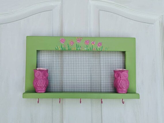 Owl Home Decor Wooden Wall Shelf Cute Owl Gift ready to ship @ ApronstringsOwlLady