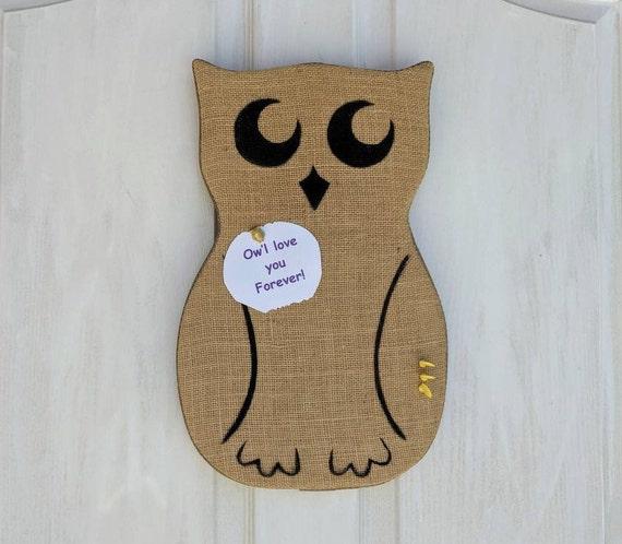 Owl Bulletin Board, Owl Home Decor, Back to School Organization Board, Dorm Room Decor - ready to ship @ ApronStringsOwlLady
