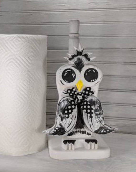 Paper towel holder Bird Wooden Owl Kitchen Custom Colors Bathroom Decor Country Table Decor Farmhouse Towel Rack Gifts For Mom Bride Her