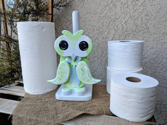 Owl Bird Paper towel holder Bathroom tissue holder Kitchen Decor & Storage Wooden Home Decor Made To Order @ApronStringsOwlLady