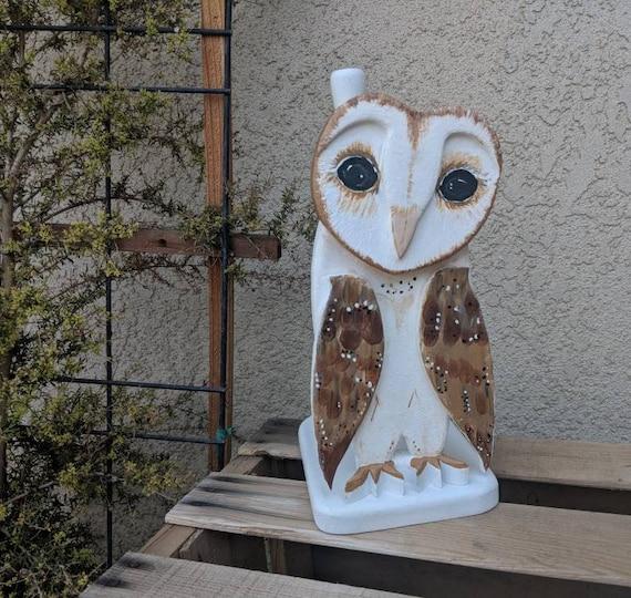 Barn Owl,Paper towel holder,Wooden Barn Owl,Unique Home Decor,Bird Decor,Owl Gift,Fall Centerpiece,Bird,Owls,Kitchen,Owl,Housewarming Gift